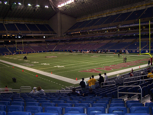 Inside the Alamodome, San Antonio